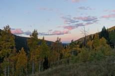 September: Sunrise in the Aspens of Piney Lake, Colorado