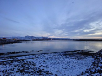 Icelandic villages keep their lights on all day in the winter