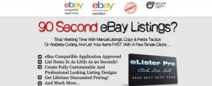 eLister Pro 90 Second eBay Listings