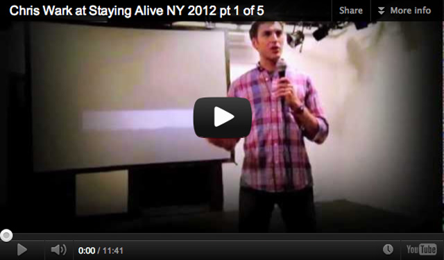 Watch my talk from Staying Alive NY 2012!
