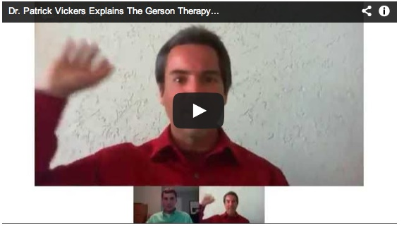 Gerson Cancer Therapy explained by Dr. Patrick Vickers