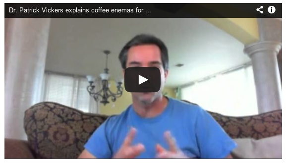 Dr. Vickers explains coffee enemas for healing cancer