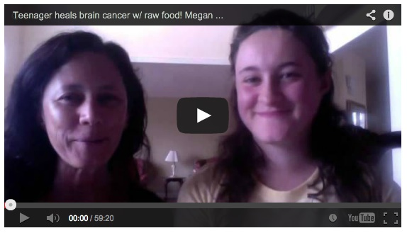 Teenager Megan Sherow heals brain cancer with raw food