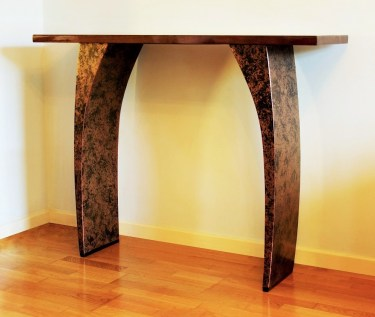 Modern console tables by Chris Bose. This console is perfect for a hallway, living room, dining room or even a bedroom.