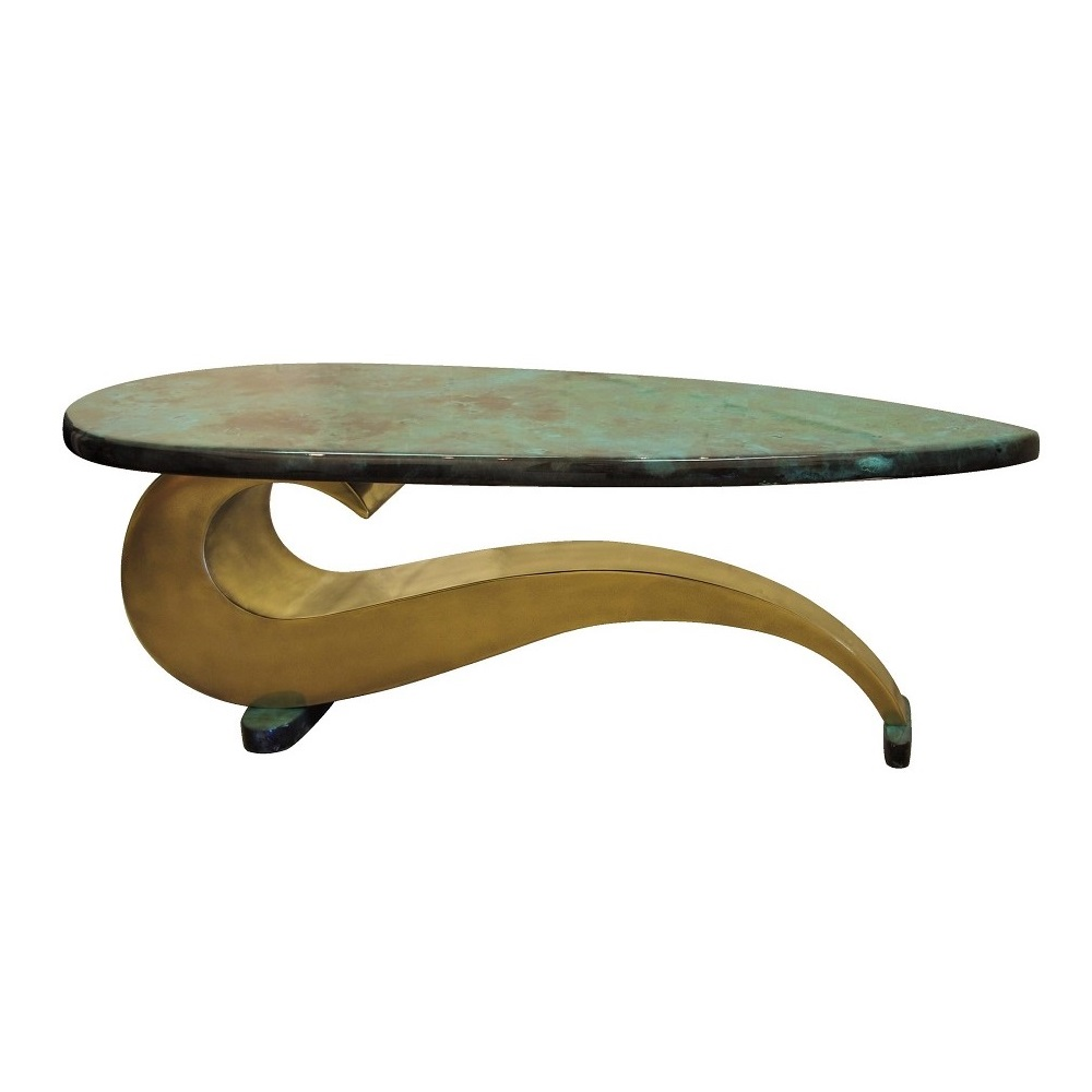 Brass coffee table by Chris Bose. Contemporary designer furniture handmade to order.