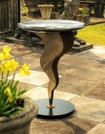 metal garden bird bath