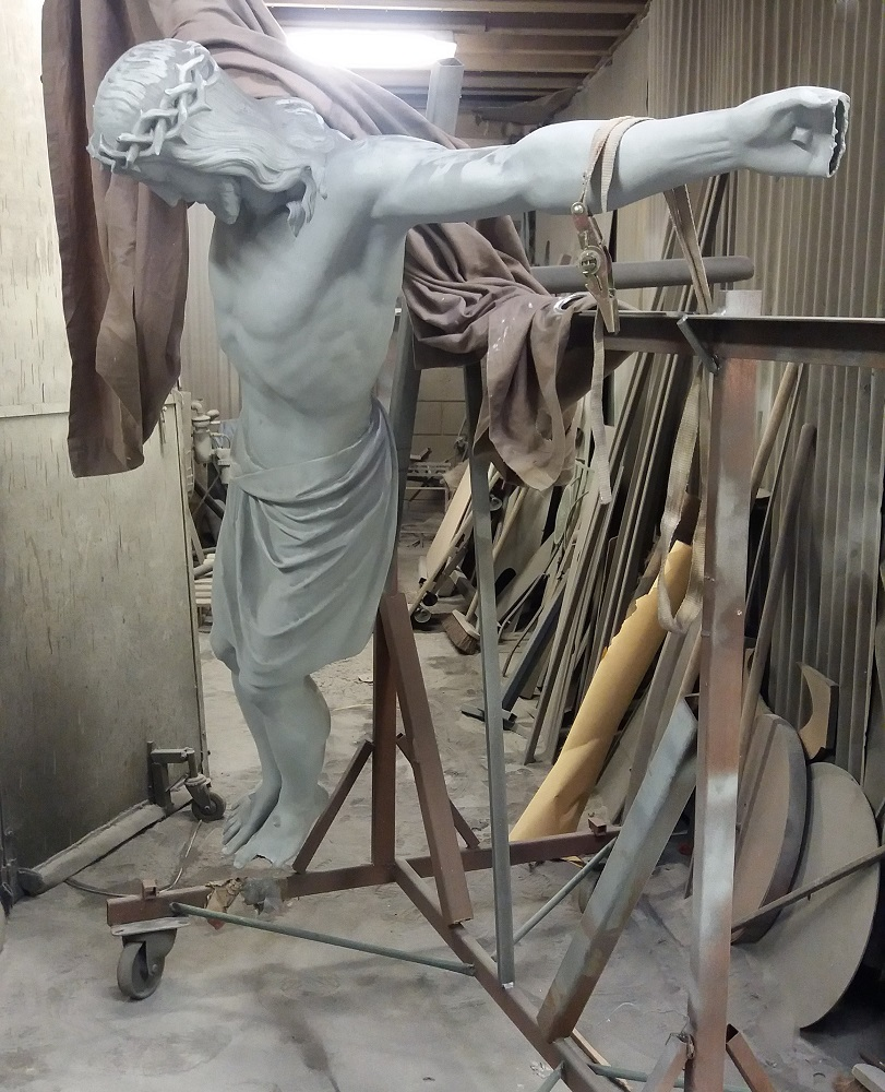 Metal Finishes in bronze on a life-size sculpture