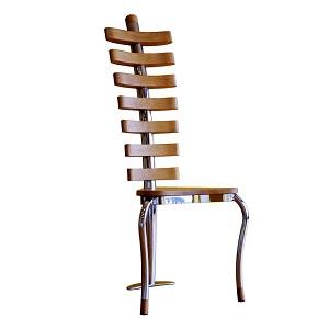 Bone glass coffee table and chair.