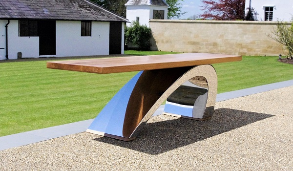Modern garden bench The Surf