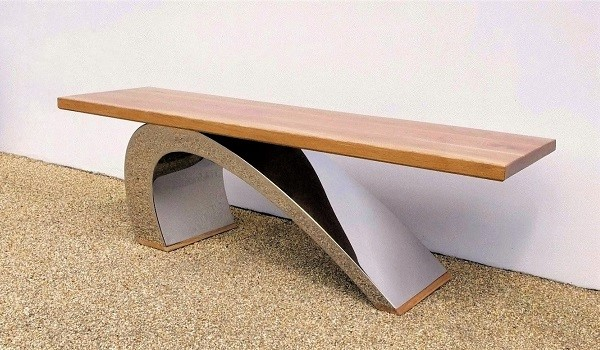 Modern garden bench bespoke furniture