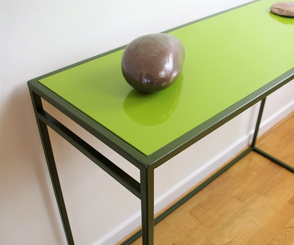 Colourful console table green Chris Bose