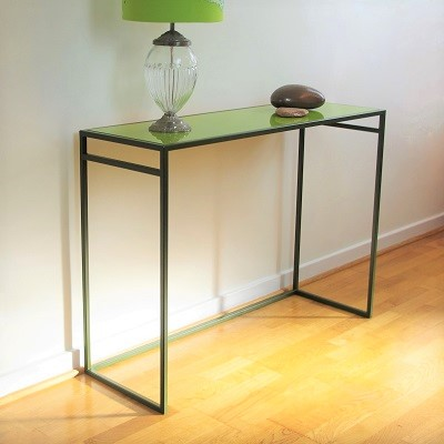 Designer console tables slim metal