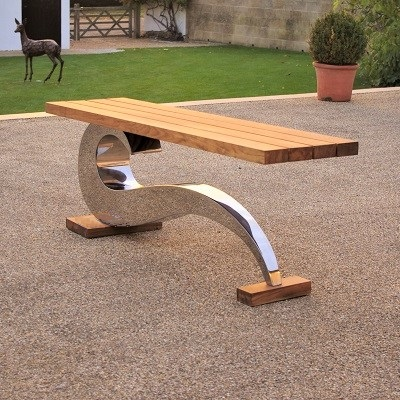 Contemporary garden furniture seat