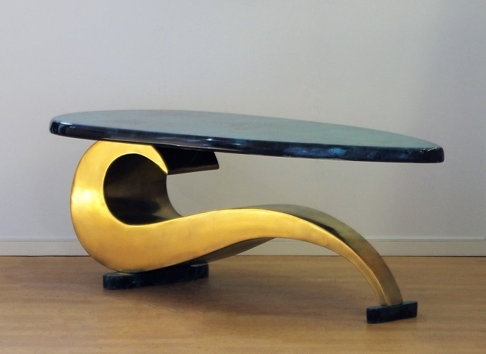 Brass Coffee Table by Chris Bose
