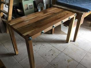 Solid oak table closer