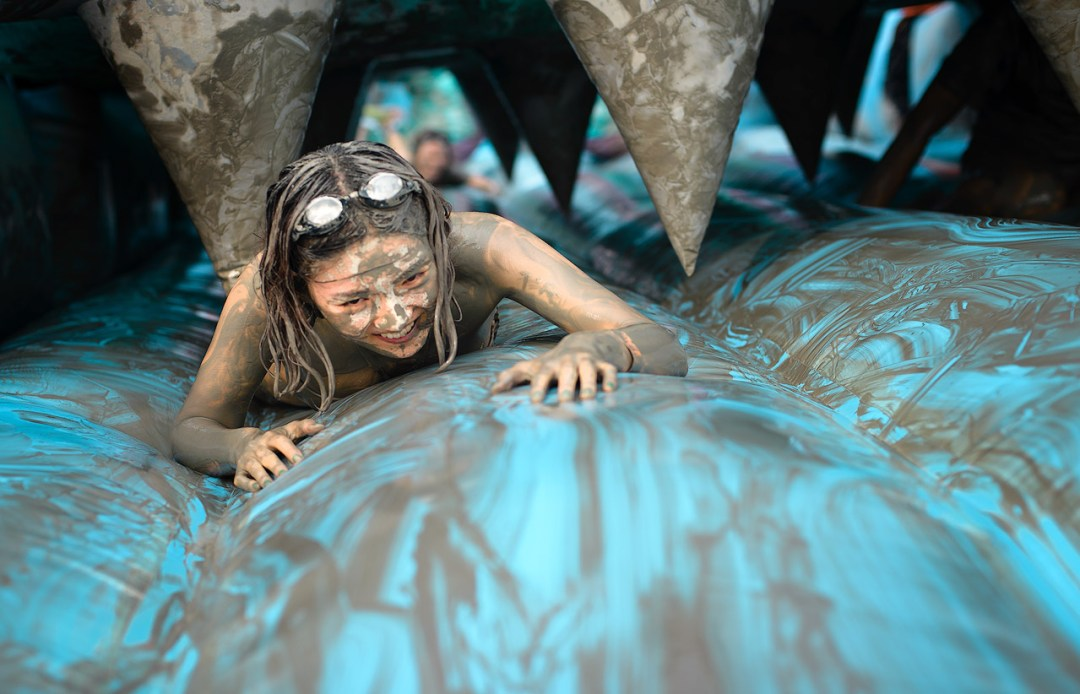 Girl in mud at Boryeong Mud Festival