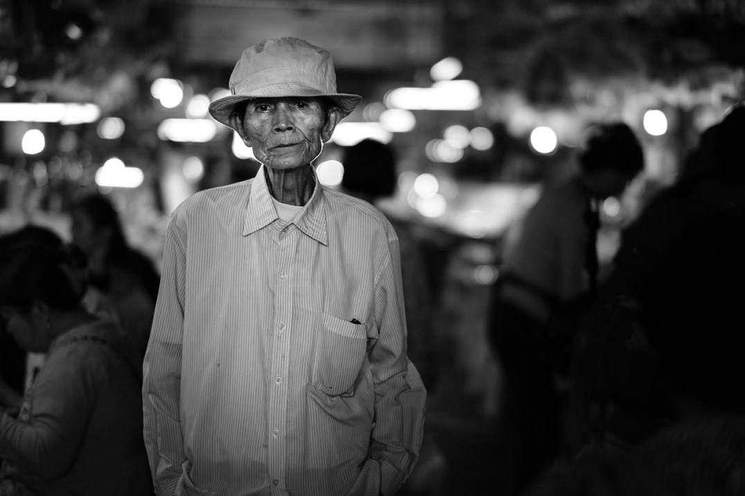 old man in a market