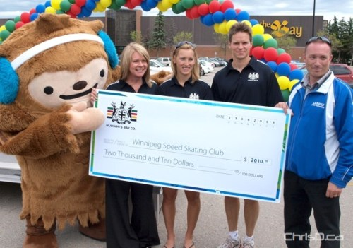 Winnipeg Speed Skating Club Cheque - International Olympic Day