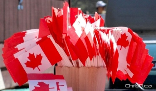 Canada Day Flags - Assiniboine Park Zoo