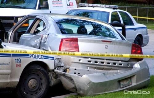 Edison Avenue Police Cruiser Crash