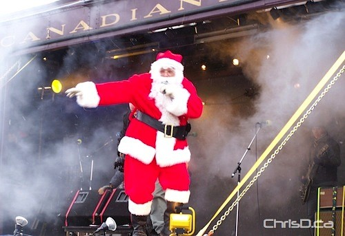 Canadian Pacific Holiday Train - Santa Claus