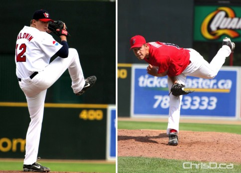 Winnipeg Goldeyes - Zach Baldwin - Ian Thomas