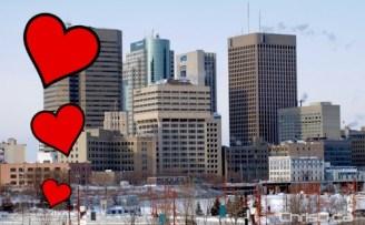 Winnipeg Skyline - Love Hearts