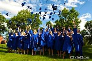 Students from Westgate Mennonite Collegiate celebrate their graduation in this file photo. (TED GRANT / CHRISD.CA)