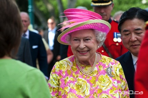 Queen Elizabeth II in Winnipeg during her visit on July 3, 2010. (TED GRANT / CHRISD.CA FILE)