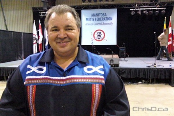 Manitoba Métis Federation president David Chartrand at the 2010 MMF Annual General Assembly at the Keystone in Brandon on Saturday, September 11, 2010. (WPGCAMERAMAN / CHRISD.CA)