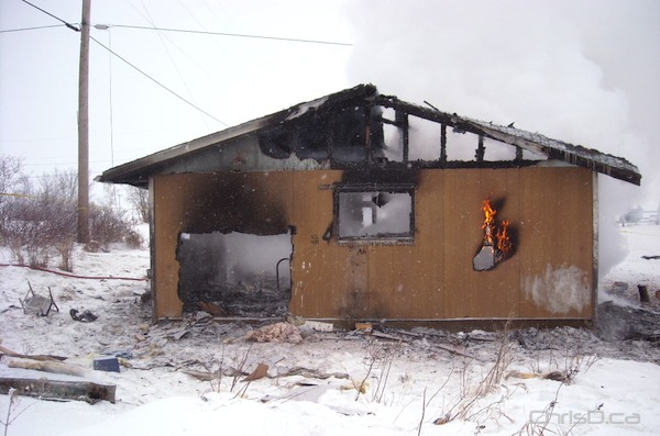 A house fire in St. Theresa Point claimed the life of a two-month-old infant girl on Sunday, January 16, 2011. (RCMP HANDOUT)