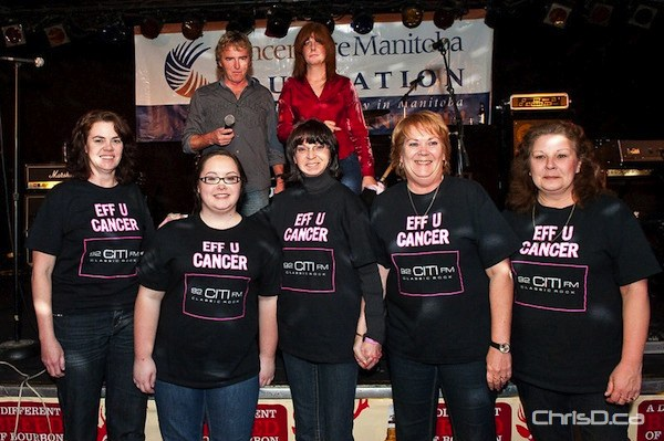 The Manitoba Rocking Breast Cancer Fundraiser was sold out Tuesday night. Proceeds from the event went to breast cancer research at CancerCare Manitoba. (TED GRANT / CHRISD.CA)