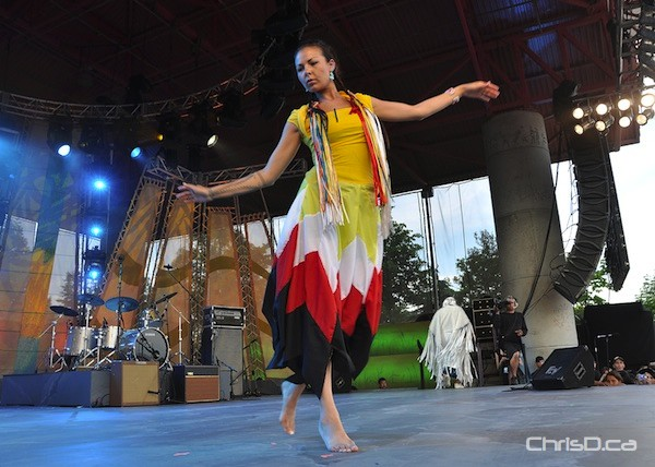 The Aboriginal School of Dance performs during Aboriginal Day festivities at The Forks on Saturday, June 18, 2011. (MAURICE BRUNEAU / CHRISD.CA)
