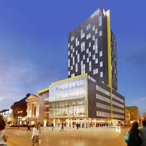 The former A&B Sound building at 311 Portage Avenue will soon see redevelopment to turn it into the ALT Hotel and Stantec office tower. (HANDOUT)
