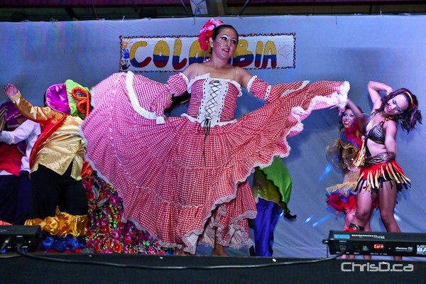 Colombian Pavilion -- Located at the Notre Dame Recreational Centre, 271 ave de la Cathedrale. Show times are Tuesday to Friday at 6:45 p.m., 8:15 p.m. and 9:45 p.m. An early show runs Saturday at 5:15 p.m., with late night parties on Friday and Saturday from 11 p.m. to 2 a.m. (TED GRANT / CHRISD.CA)