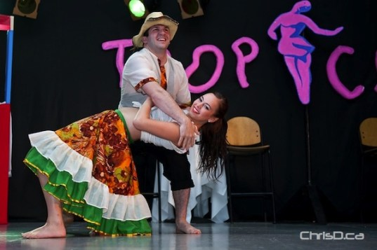 Dancers perform at Folklorama's Cuba Pavilion at the Centro Caboto Centre, 1055 Wilkes Avenue. (TED GRANT / CHRISD.CA)