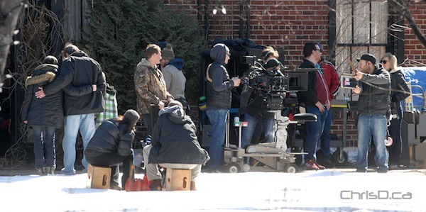 Film crews shoot scenes for 'Home Alone 5' in Winnipeg on Thursday, March 15, 2012. (STAN MILOSEVIC / MANITOBAPHOTOS.COM)