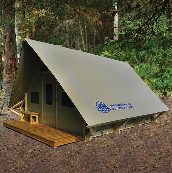 One of the new oTENTik tents in Wasagaming Campground available for booking. (PARKS CANADA)