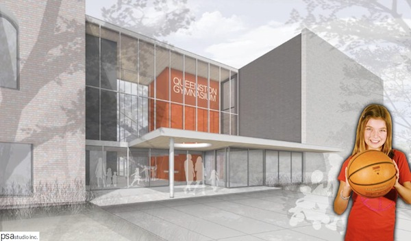 An artist's rendering of the future Sheilah Sweatman Gymnasium (HANDOUT)