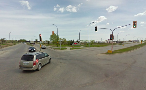 Plessis Road will be widened nearly one kilometre near Dugald Road as part of a $77 million project. (GOOGLE STREET VIEW)