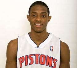 Pistons' Brandon Knight in the City on Monday