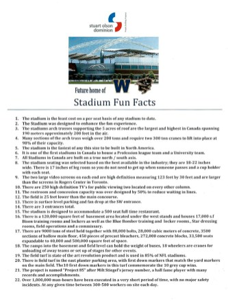 Facts of Investors Group Field (click to enlarge)