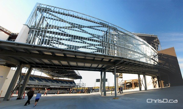 Investors Group Field at the University of Manitoba on Thursday, September 13, 2012. (STAN MILOSEVIC / CHRISD.CA)