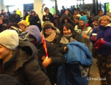Shoppers steam in as IKEA Winnipeg opened its doors to the public on Wednesday, November 28, 2012. (CHRISD.CA)