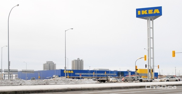 IKEA's Winnipeg store at the corner of Kenaston Boulevard and Sterling Lyon Parkway. (STAN MILOSEVIC / CHRISD.CA)