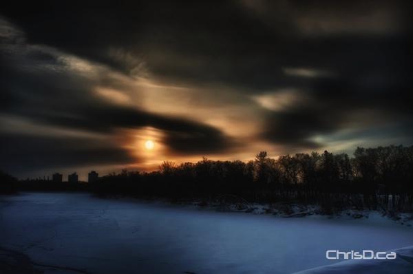 Winter Cold Sunrise