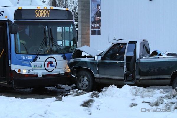 Winnipeg Transit - Pickup Truck Crash