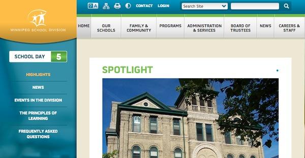 Winnipeg School Division Website