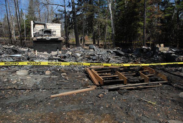 Falcon Lake Cabin Fire