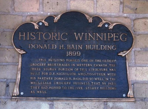 Historic Winnipeg Plaque